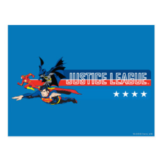 Justice League Stars and Stripes Postcard