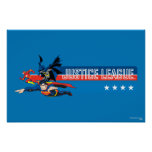 Justice League Stars and Stripes Print