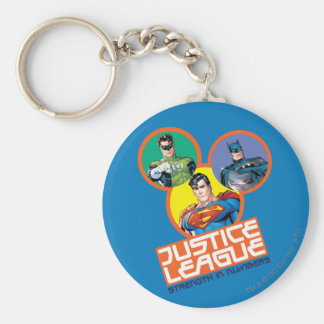 """Justice League """"Strength in Numbers"""" Key Chain"""