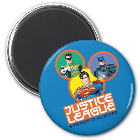 "Justice League ""Strength in Numbers"" Magnet"