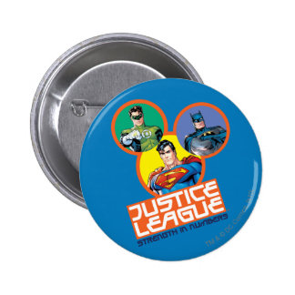 """Justice League """"Strength in Numbers"""" Pinback Button"""