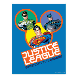 """Justice League """"Strength in Numbers"""" Postcard"""