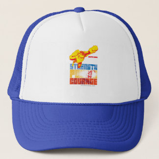 Justice League Strength. Power. Courage. Character Trucker Hat