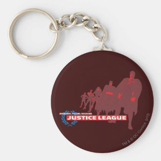 Justice League Strength. Power. Courage. Ensemble Basic Round Button Keychain