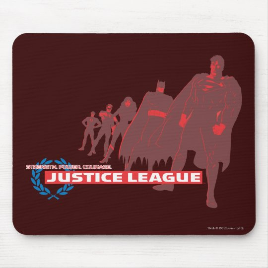 Justice League Strength. Power. Courage. Ensemble Mouse Pad