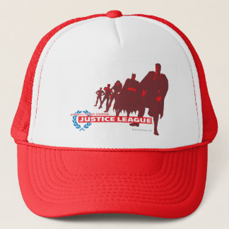 Justice League Strength. Power. Courage. Ensemble Trucker Hat