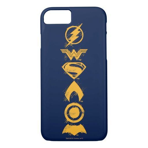 Justice League | Stylized Team Symbols Lineup iPhone 8/7 Case