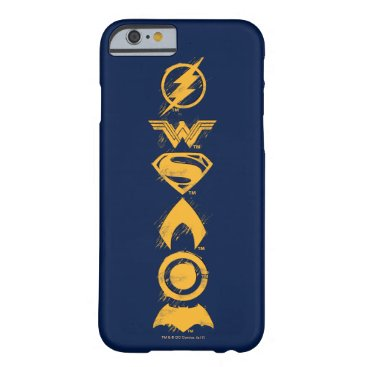 Justice League | Stylized Team Symbols Lineup Barely There iPhone 6 Case