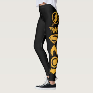 Justice League | Stylized Team Symbols Lineup Leggings