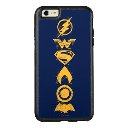 Justice League | Stylized Team Symbols Lineup OtterBox iPhone 6/6s Plus Case