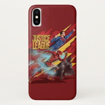 Justice League | Superman, Flash, & Batman Badge iPhone X Case