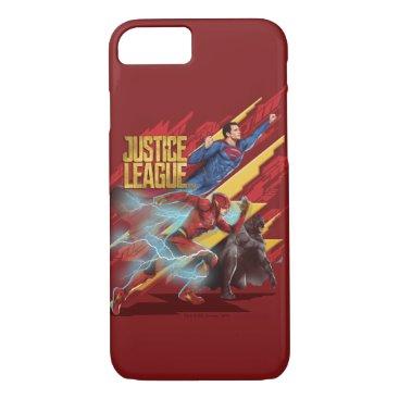 Justice League | Superman, Flash, & Batman Badge iPhone 8/7 Case