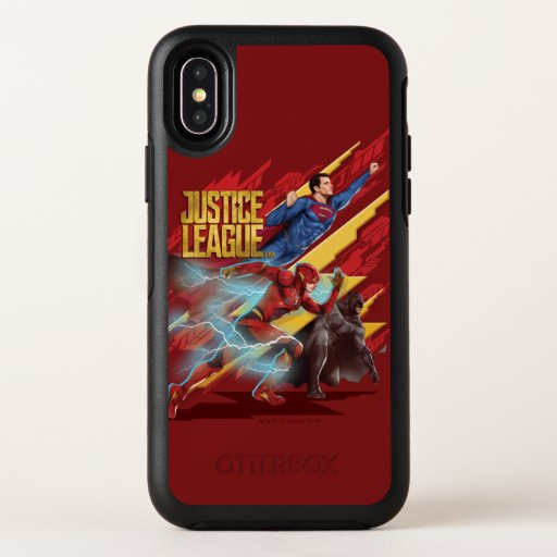 Justice League | Superman, Flash, & Batman Badge OtterBox Symmetry iPhone X Case