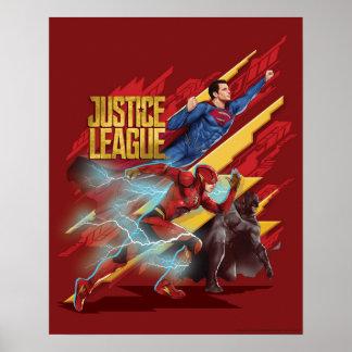 Justice League | Superman, Flash, & Batman Badge Poster
