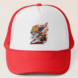 Justice League   Superman, Flash, & Batman Badge Trucker Hat