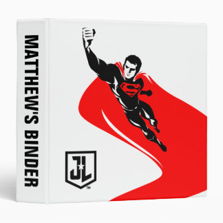 Justice League | Superman Flying Noir Pop Art Binder