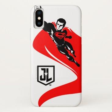 Justice League | Superman Flying Noir Pop Art iPhone X Case