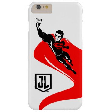 Justice League | Superman Flying Noir Pop Art Barely There iPhone 6 Plus Case