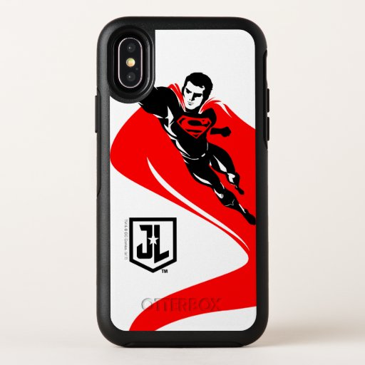 Justice League | Superman Flying Noir Pop Art OtterBox Symmetry iPhone X Case
