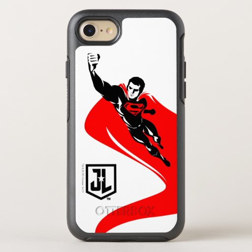 Justice League | Superman Flying Noir Pop Art OtterBox Symmetry iPhone SE/8/7 Case
