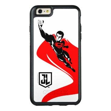 Justice League | Superman Flying Noir Pop Art OtterBox iPhone 6/6s Plus Case