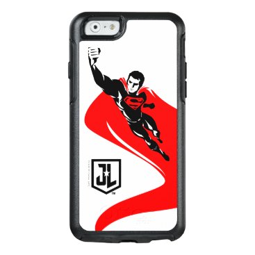 Justice League | Superman Flying Noir Pop Art OtterBox iPhone 6/6s Case