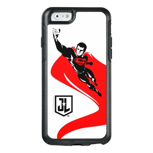 Justice League | Superman Flying Noir Pop Art OtterBox iPhone 6/6s Case