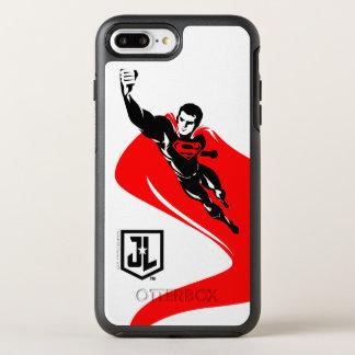 Justice League   Superman Flying Noir Pop Art OtterBox Symmetry iPhone 8 Plus/7 Plus Case