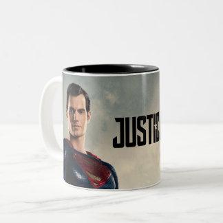 Justice League | Superman On Battlefield Two-Tone Coffee Mug