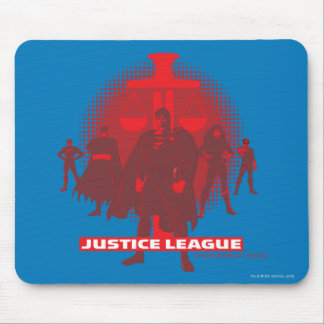 Justice League Sword and Scale Mouse Pad