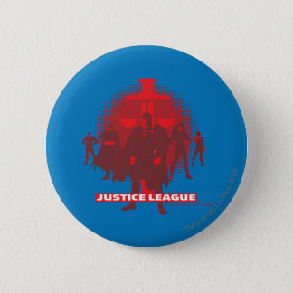 Justice League Sword and Scale Pinback Button