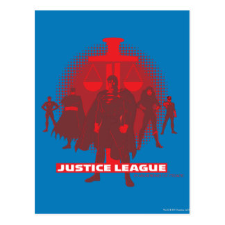 Justice League Sword and Scale Postcard