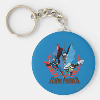 Justice League Team Power Keychain