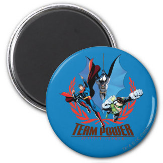 Justice League Team Power 2 Inch Round Magnet