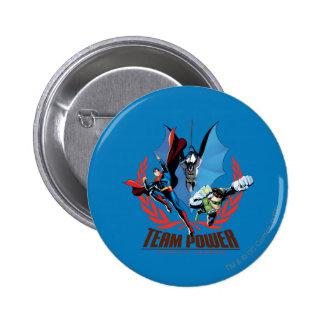 Justice League Team Power Pinback Button
