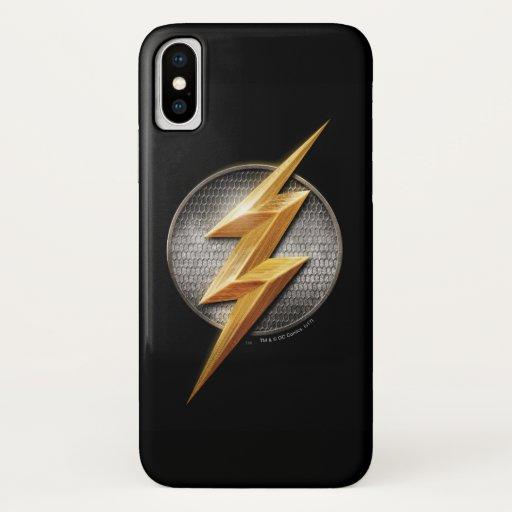 Justice League | The Flash Metallic Bolt Symbol iPhone X Case