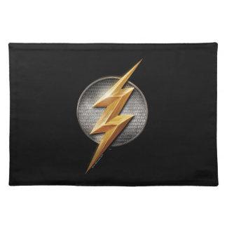 Justice League | The Flash Metallic Bolt Symbol Cloth Placemat