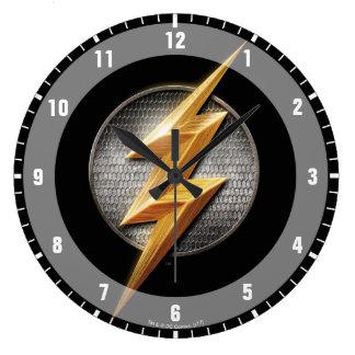 Justice League | The Flash Metallic Bolt Symbol Large Clock