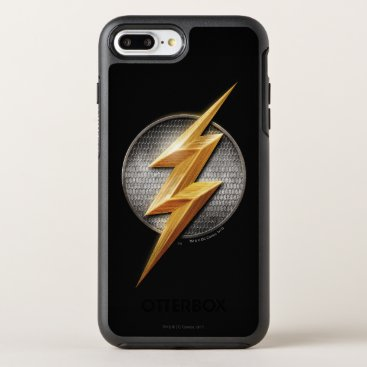 Justice League | The Flash Metallic Bolt Symbol OtterBox Symmetry iPhone 8 Plus/7 Plus Case