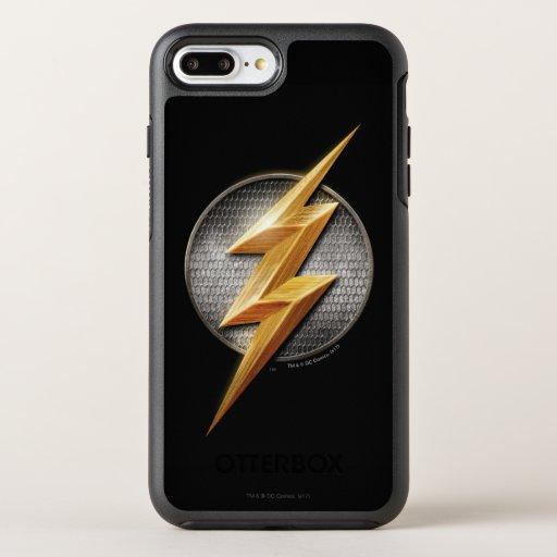 Justice League | The Flash Metallic Bolt Symbol OtterBox Symmetry iPhone 8 Plus/7 Plus Case