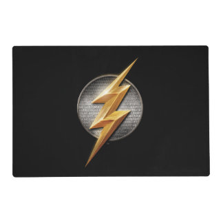 Justice League | The Flash Metallic Bolt Symbol Placemat
