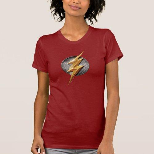 Justice League  The Flash Metallic Bolt Symbol T_Shirt