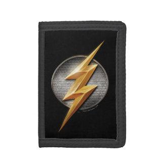 Justice League   The Flash Metallic Bolt Symbol Tri-fold Wallet