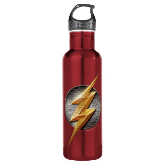 Justice League | The Flash Metallic Bolt Symbol Water Bottle