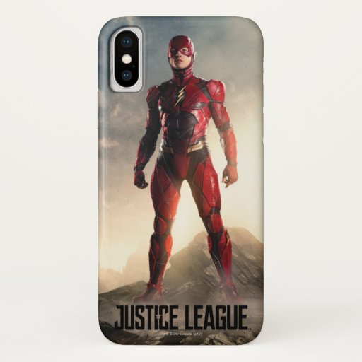 Justice League | The Flash On Battlefield iPhone X Case