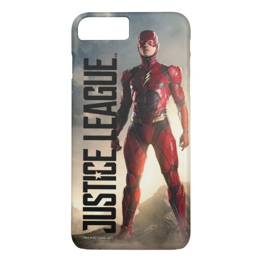Justice League | The Flash On Battlefield iPhone 8 Plus/7 Plus Case
