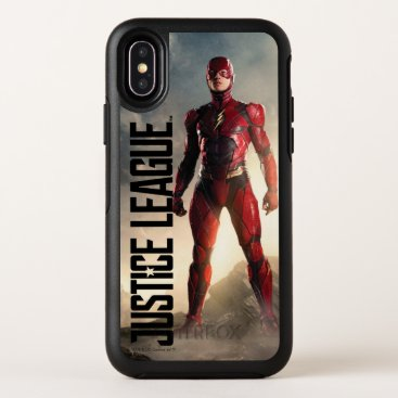 Justice League   The Flash On Battlefield OtterBox Symmetry iPhone X Case