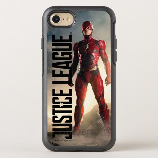 Justice League | The Flash On Battlefield OtterBox Symmetry iPhone SE/8/7 Case