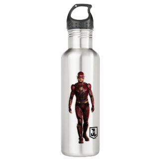Justice League | The Flash On Battlefield Stainless Steel Water Bottle