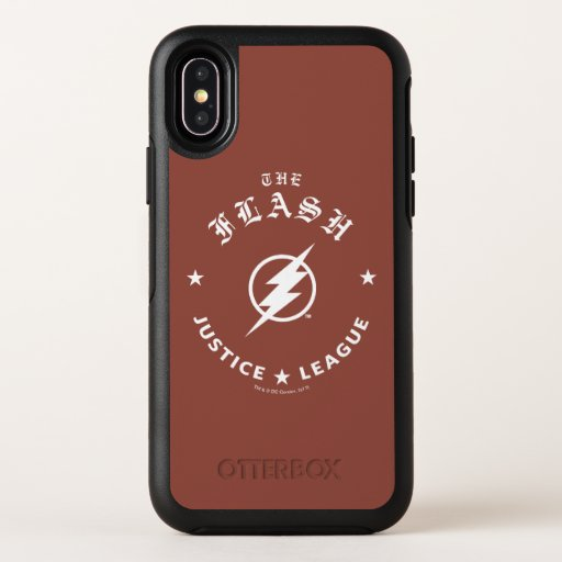 Justice League | The Flash Retro Lightning Emblem OtterBox Symmetry iPhone X Case